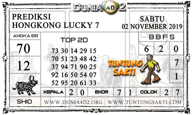 """Prediksi Togel """"HONGKONG LUCKY7"""" DUNIA4D2 02 NOVEMBER 2019"""