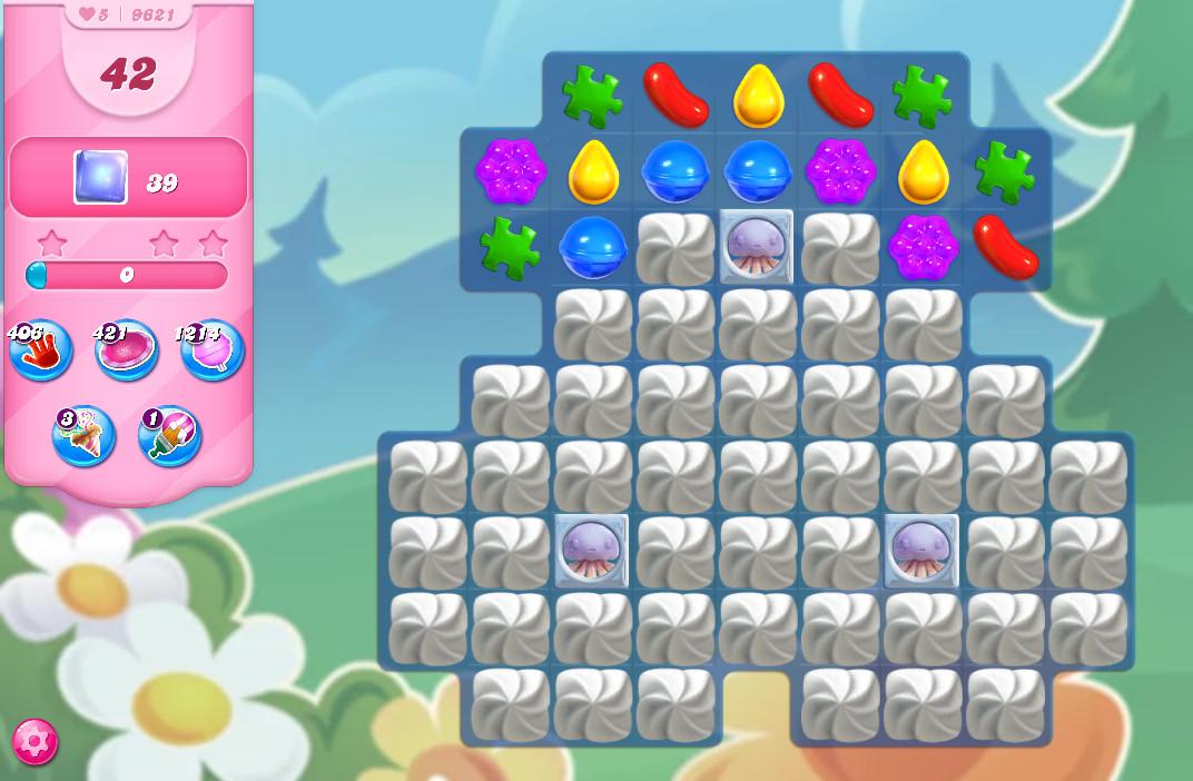 Candy Crush Saga level 9621