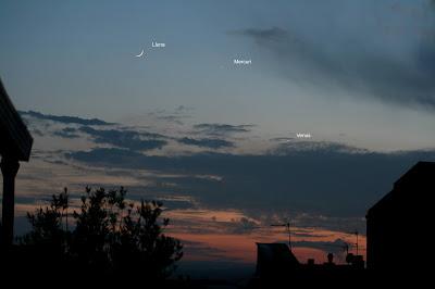 Lluna, Mercuri i Venus - 24/05/2020