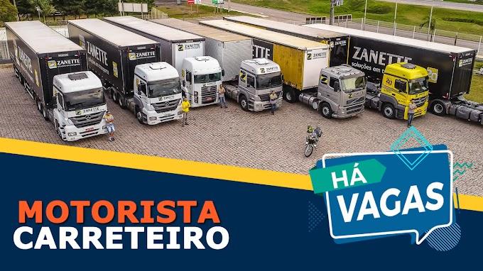Zanette Transportes abre vagas para Motorista Carreteiro