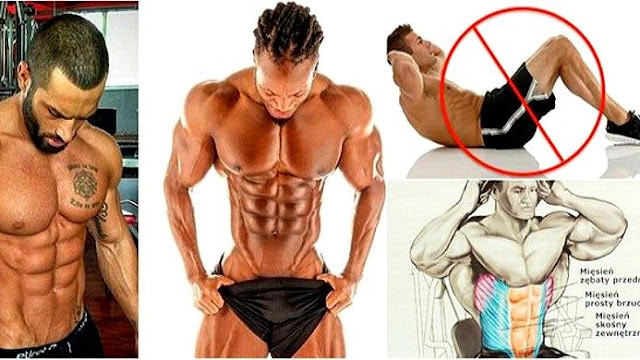 Top 6 No-Crunch Exercises For 6-Pack Abs !