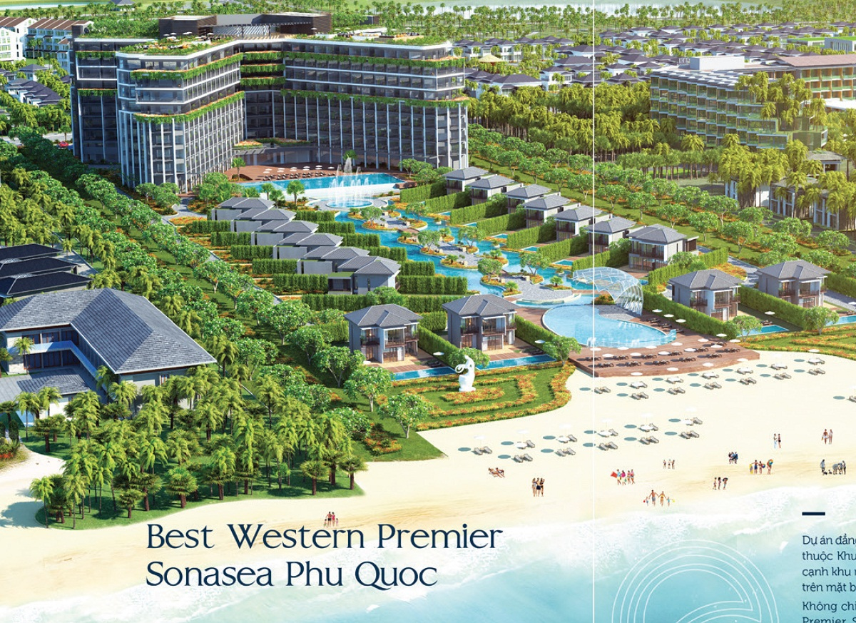 Condotel Sonasea Phú Quốc nằm ngay mặt biển thuộc bãi Trường