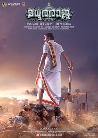 Poster Of Madhuraraja Full Movie in Hindi HD Free download Watch Online Malayalam Movie 720P