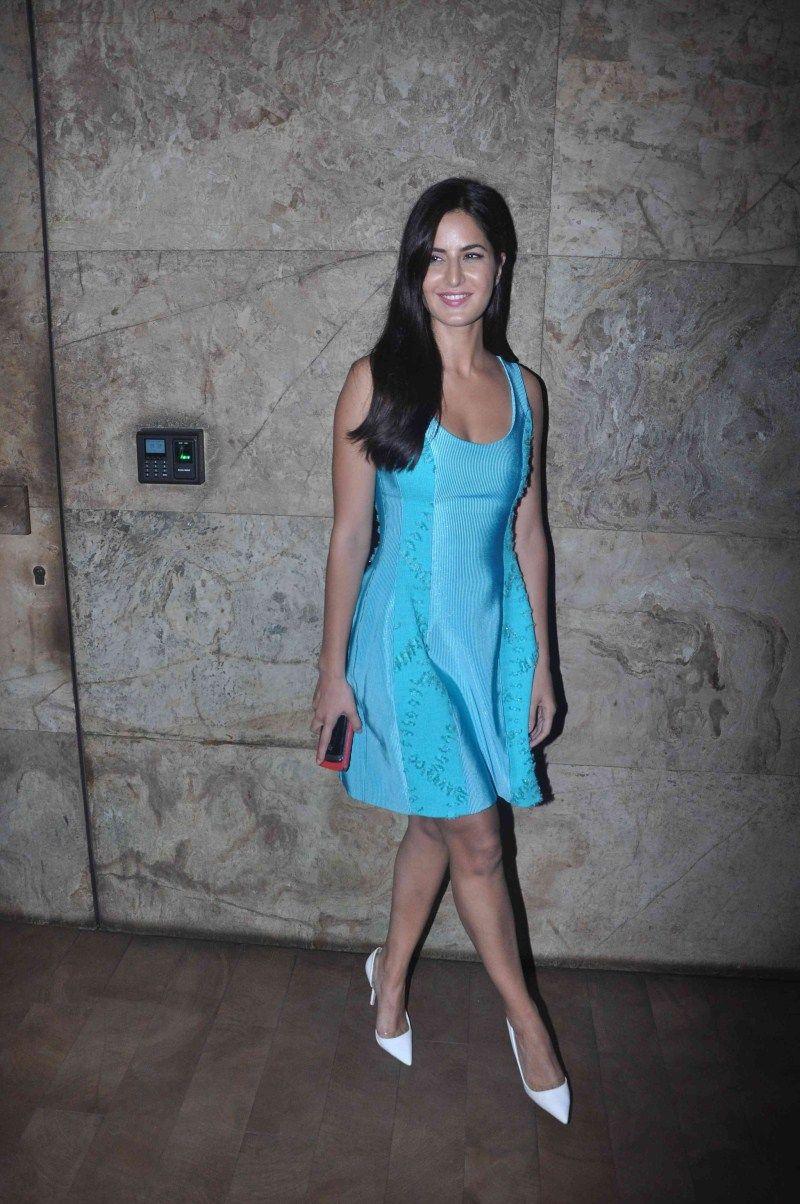 Katrina Kaif Looks Super Sexy In A Blue Short Dress At -3128
