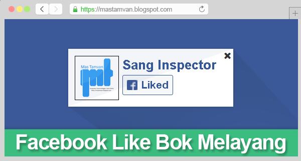Facebook Like Box Melayang Di Pojok Kanan Blog