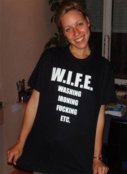 WIFE material funny t-shirt. PYGOD.COM