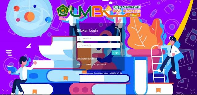 Tampilan UMBK 2020