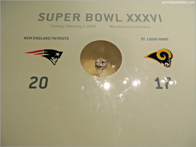 Anillo Super Bowl XXXVI