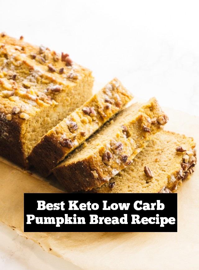 Best Keto Low Carb Pumpkin Bread Recipe | low carb Bread recipe, keto bread recipe, gluten free bread recipe, healthy bread recipe, #keto #lowcarb #ketobread #lowcarbbread #ketobreakfast #breakfast #healthybreakfast #easybreakfast