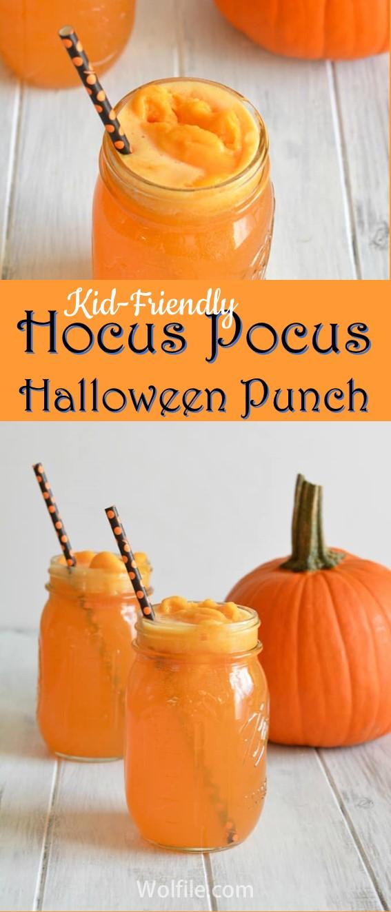 Hocus Pocus Halloween Punch #Halloween #Punch #Drink #Kid-Friendly