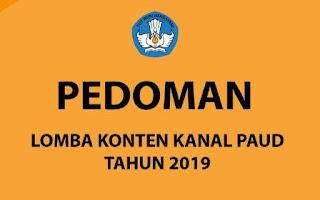 Pedoman Lomba Konten Kanal PAUD Tahun 2019