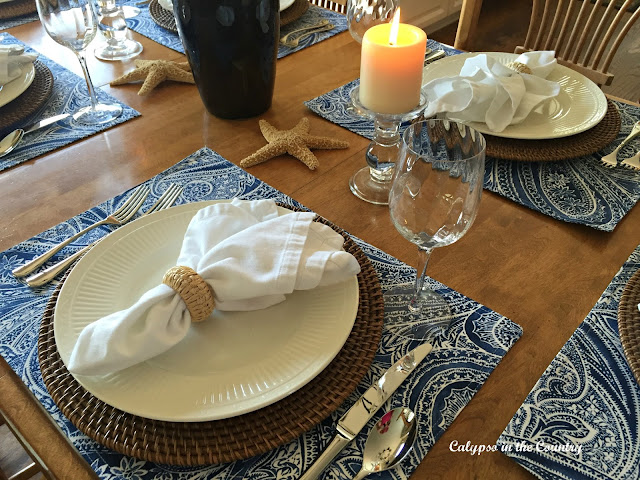 Summer Inspired Blue and White Table