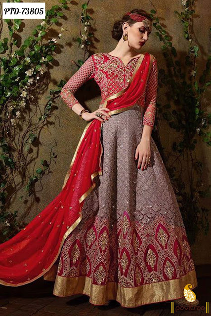 Heavy Work Designer Anarkali Dresses Online For Bride