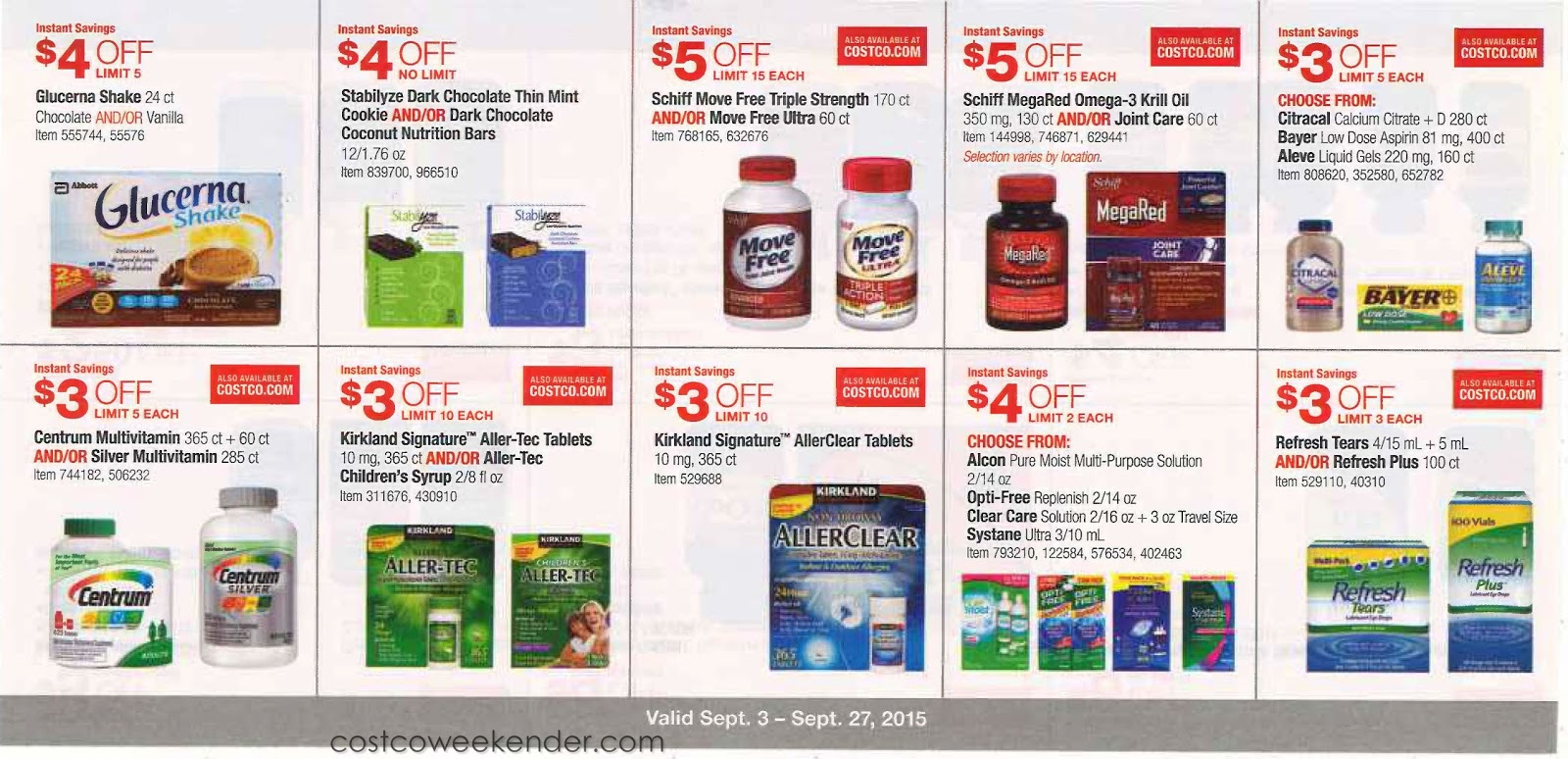 Current Costco Coupon Book September 2015 Costco Weekender