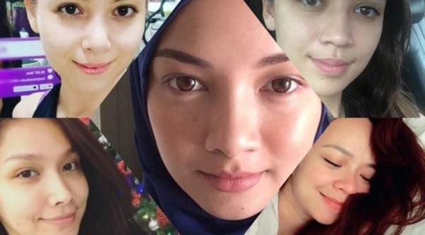 Natural Beauty! 11 Wajah Artis Wanita Malaysia Tanpa Make Up