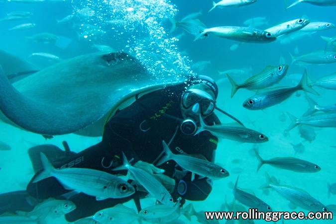 Scuba diving at Pulau Mabul