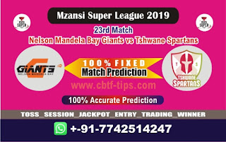 Who will win Today MSL 2019, 23rd Match Tshwane vs Nelson - Cricfrog