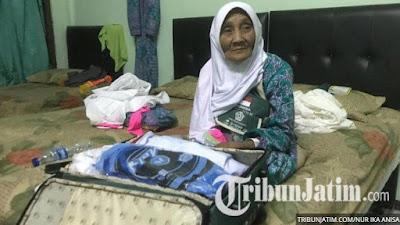 Kabar Berita Terbaru Hari Ini Berbekal Harta Warisan Orang Tua, Nenek Sarmi Asal Tulungagung Akhirnya Berangkat Haji