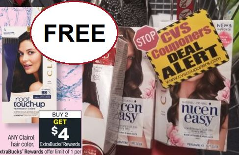 FREE Clairol Hair Color CVS Deals 4/4-4/10