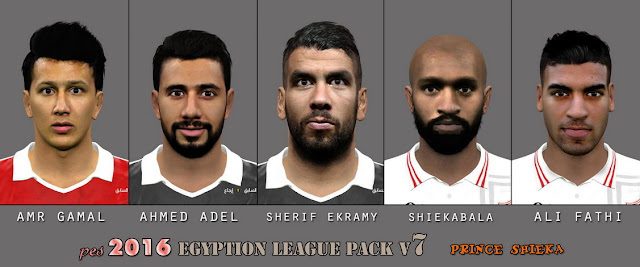 PES 2016 Egyption League Facepack