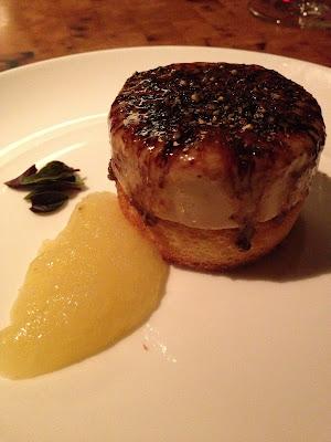 St. Regis Princeville's bruleed foie gras