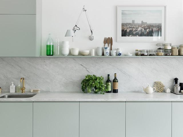 Frontal mármol para la cocina