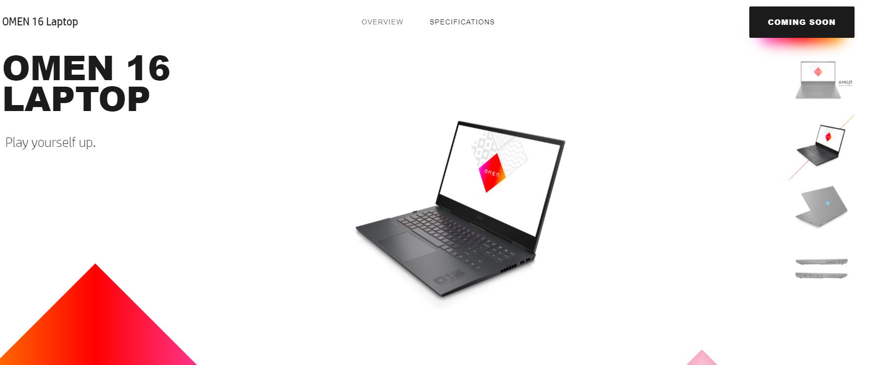 كل خصائص ومميزات الحاسوب القوي HP OMEN 16 2021