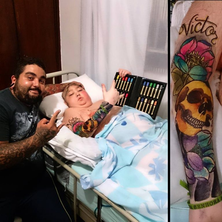 Tattoo Artist Fulfilled 12-year-old Boy with Cancer One Last Wishes