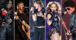 Super Bowl, halftime show, performers, games, history, through the years, 1967-2021.