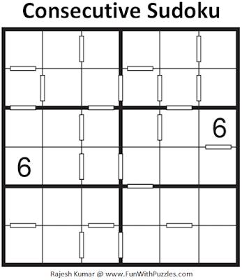 Consecutive Sudoku Puzzle (Mini Sudoku Series #106)