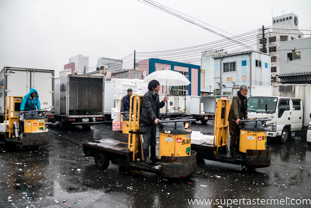 Tsukiji Fish Market Turret Trucks