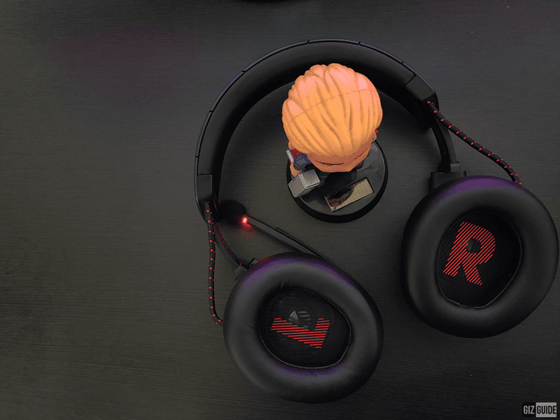 Left and Right indicators for each earcup