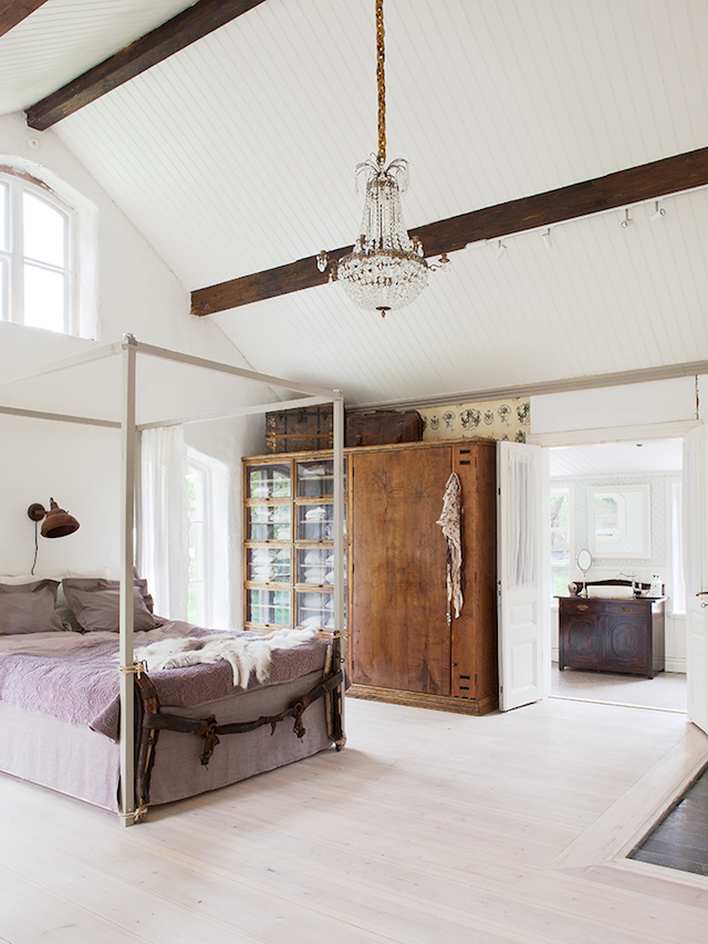 Duvet day in this dreamy master bedroom""