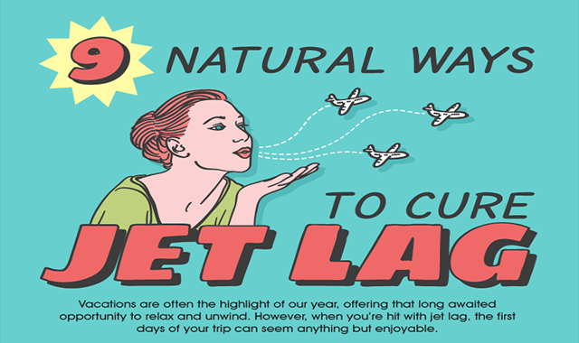 9 NATURAL WAYS TO CURE JET LAG #INFOGRAPHIC