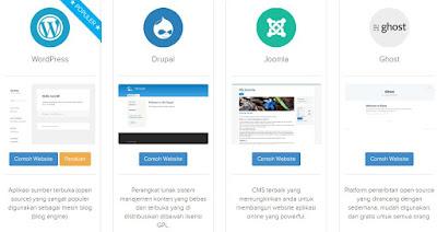 pilih aplikasi blog favorit dan install dalam sekejap