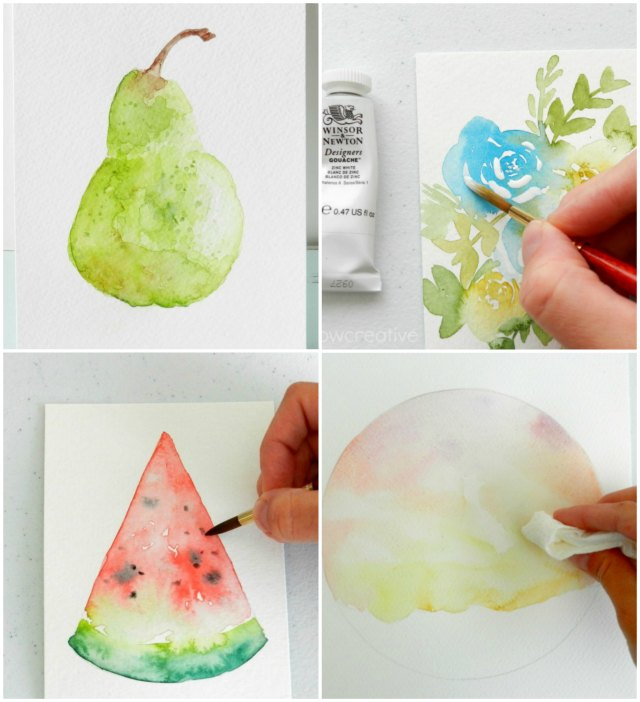 creating white space in watercolors