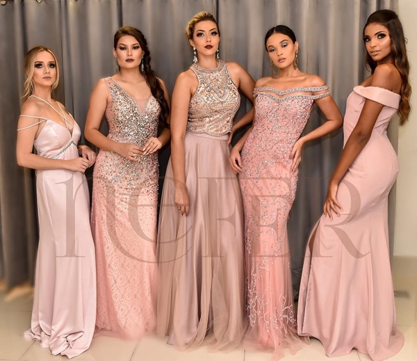 madrinhas vestido de festa rosa