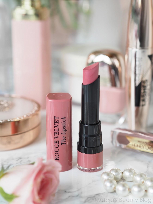 Bourjois Rouge Velvet The Lipstick 02 Flaming Rose Matejas Beauty