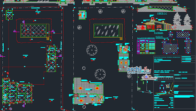 Detached house in AutoCAD