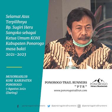 Selamat Menjadi Ketua Umum KONI Kabupaten Ponorogo Bp. Sugiri Heru Sangoko