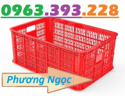 Sóng nhựa hở HS014, sọt nhựa rỗng công nghiệp, sọt nhựa đựng hàng hóa SR251