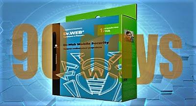 مجموعة سيريالات برنامج الحماية Dr.Web مجانا لمدة 90 يوم