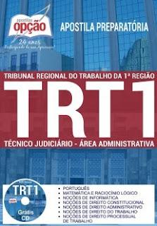 apostila TRT da 1ª Região - Técnico Judiciário - Área Administrativa.