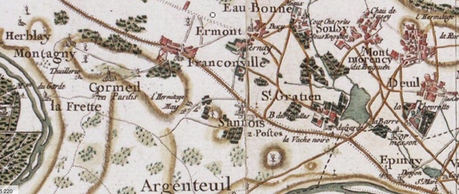 CANDIDE A SANNOIS: CARTE DE FRANCE ET MOULIN DE SANNOIS