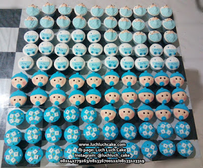 Cupcake Souvenir Ulang Tahun 1 Bulan Bayi