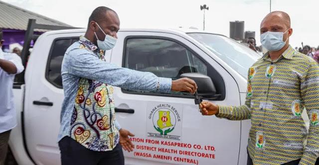 Kasapreko CEO Donates Ultra-modern Polyclinic, Nissan Frontier To Wassa Amenfi Central District
