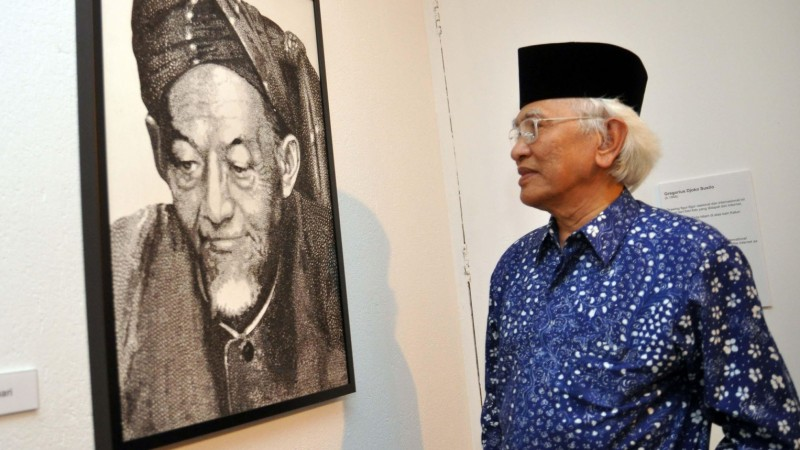 Mantan Rais Syuriah PBNU sekaligus budayawan KH Ahmad Mustofa Bisri