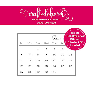Crafted Charm Designs Printable Calendar