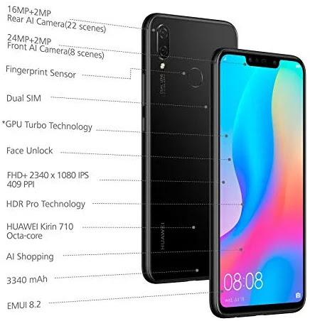 Huawei Nova 3i (Black, 4GB RAM, 128GB Storage)<br> - teachanshu com