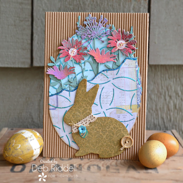 Easter Blooms Mixed Media Plaque